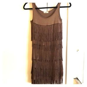 Dresses & Skirts - Short dress with fringe - French designer!